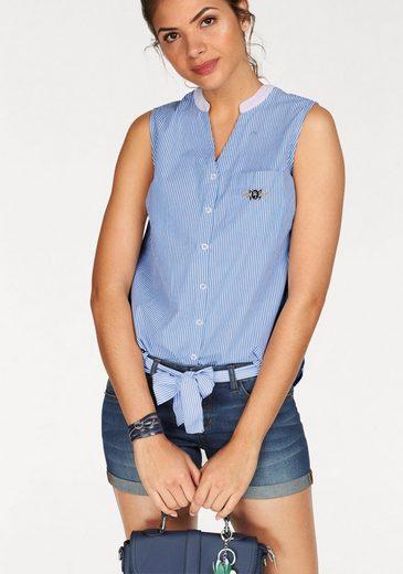Tom Tailor Polo Team Klassische Bluse, ohne Arm mit Label-Stickerei auf der Brusttasche