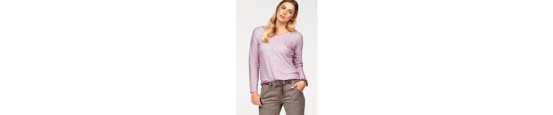 mit Langarmshirt mit femininen Spitzen Langarmshirt femininen Spitzen Boysen's Details Details Boysen's 10UUW6g