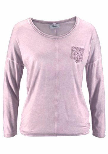 Boysen's Langarmshirt, mit femininen Spitzen-Details