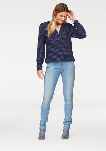 Cross Jeans® Schlupfbluse, mit Pünktchen-Alloverprint