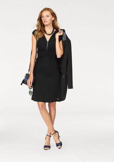 Bruno Banani A-Linien-Kleid, mit silberfarbigen Zipper-Detail