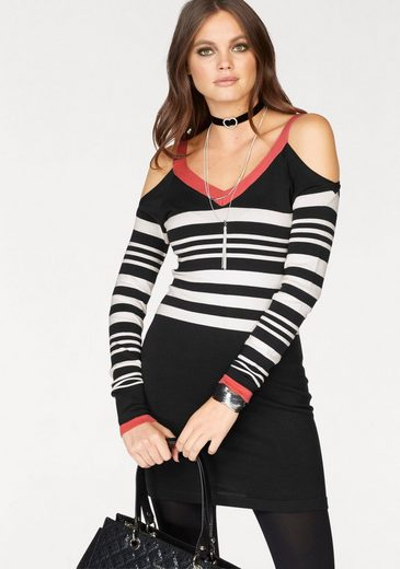 Melrose Strickkleid, mit Cold Shoulder