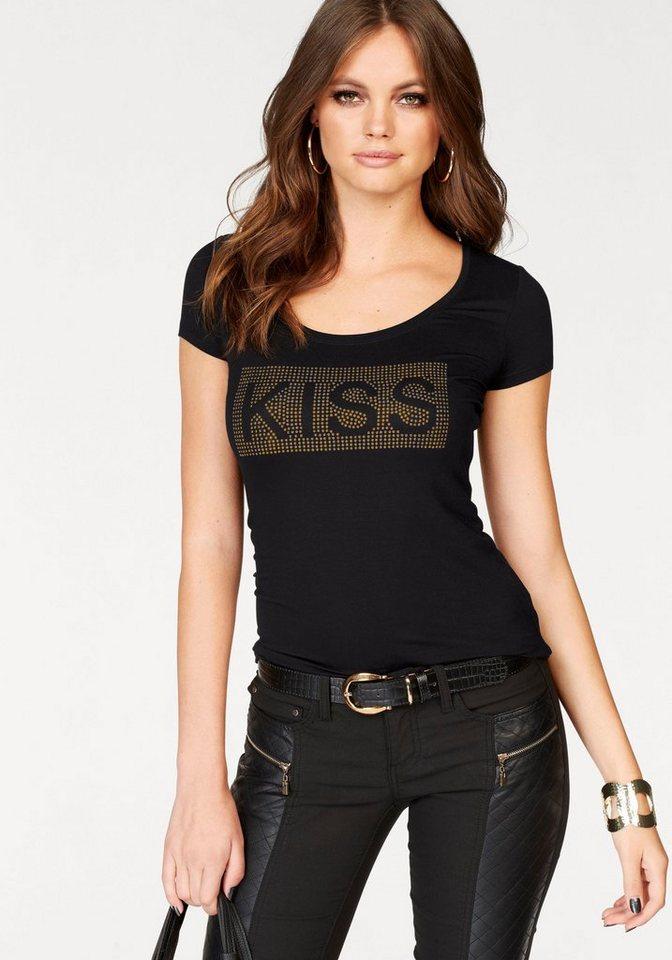 melrose t shirt mit glitzer schriftzug kaufen otto. Black Bedroom Furniture Sets. Home Design Ideas