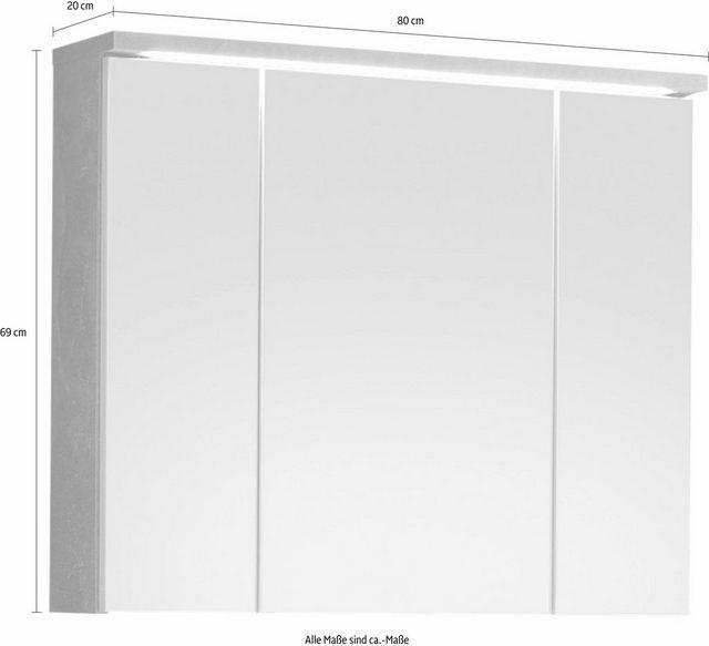 Spiegel - welltime Spiegelschrank »Pool« mit LED Beleuchtung  - Onlineshop OTTO
