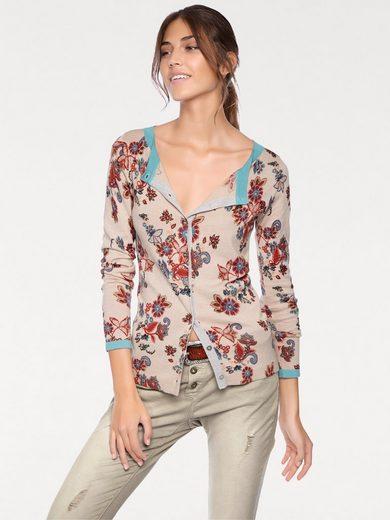 Linea Tesini By Heine Fine Sweater With Floral Dessin