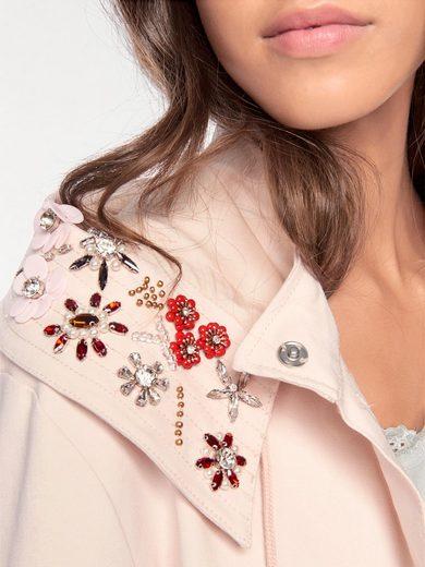Linea Tesini By Heine Parka With Jewelry Application