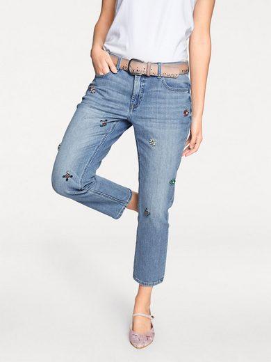 heine STYLE Jeans mit Applikationen