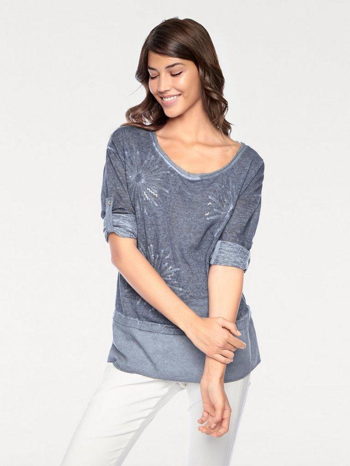 heine CASUAL Tunika in Patch-Optik   Bekleidung > Tuniken   Blau   Polyester   heine