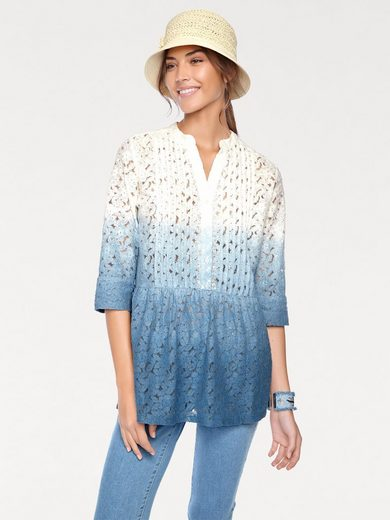 Linea Tesini By Heine Lace Blouse In Gradient