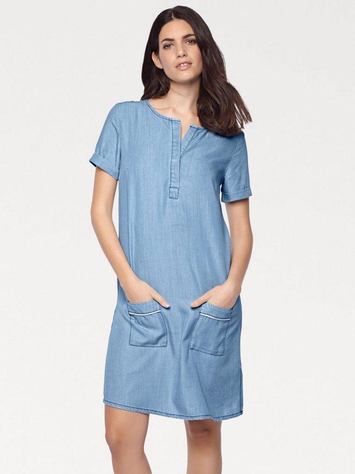 heine CASUAL Jeanskleid mit Rundhalsausschnitt | Bekleidung > Kleider > Jeanskleider | Blau | Lyocell | heine