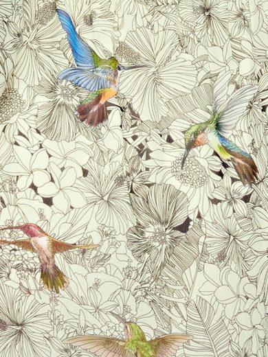 LINEA TESINI by Heine Druckkleid mit Vogel-Motiv