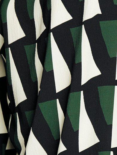 Rick Cardona By Heine Print Dress With Trumpet Sleeves