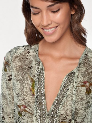 Linea Tesini By Heine Print Blouse With Bird-motif