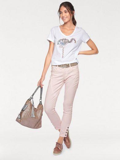 LINEA TESINI by Heine T-Shirt mit Flamingo-Applikation