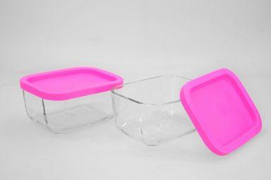 hti living glasschale 2er set mit deckel cube otto. Black Bedroom Furniture Sets. Home Design Ideas
