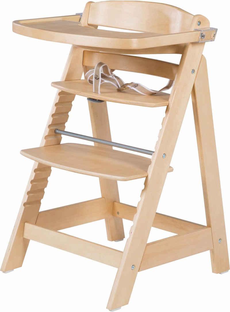 roba® Hochstuhl »Treppenhochstuhl, Sit Up Fun, natur«, aus Holz