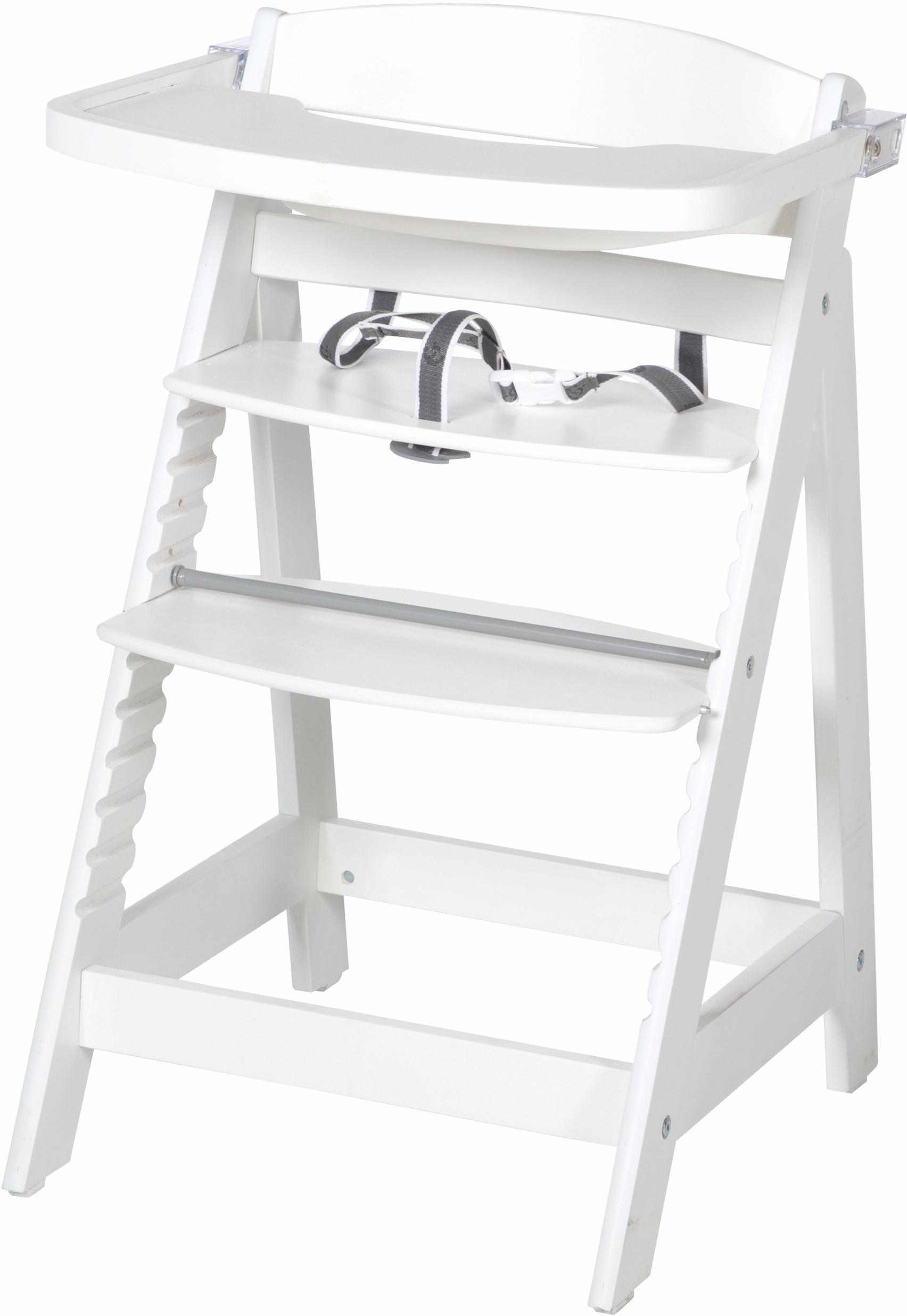Roba Hochstuhl aus Holz, »Treppenhochstuhl, Sit Up Fun, weiß«   Kinderzimmer > Kinderzimmerstühle > Hochstühle   Weiß   Roba®