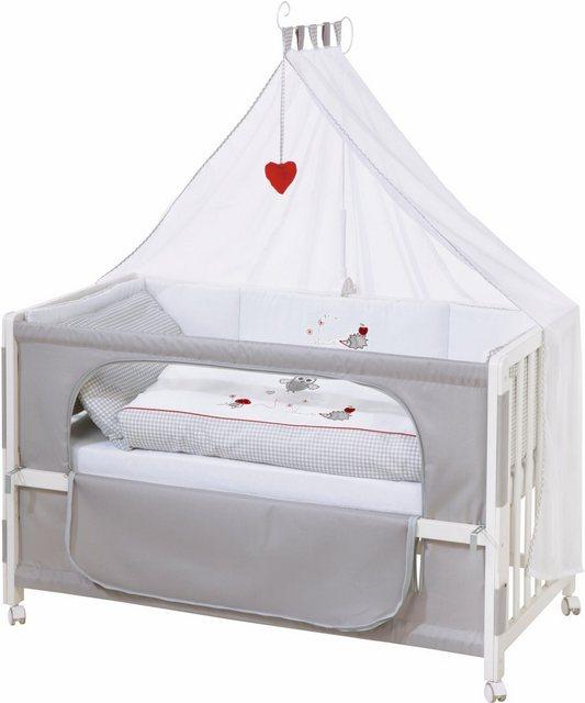 Babybetten - Roba® Babybett »Room bed Dekor Adam und Eule«, als Beistell , Kinder und Juniorbett verwendbar  - Onlineshop OTTO