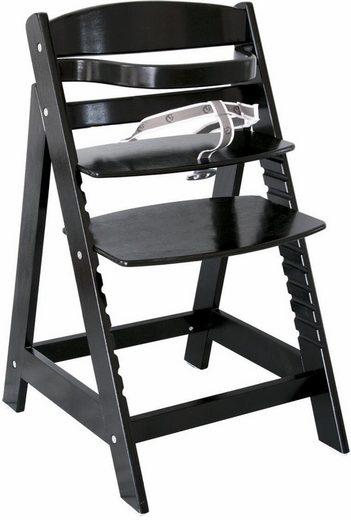 Roba® Hochstuhl »Treppenhochstuhl Sit up III, schwarz« aus Holz