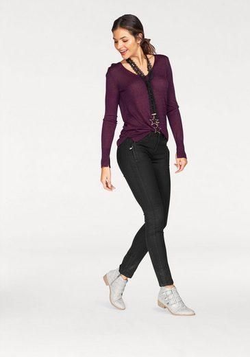 Glitzer ausschnitt leichtem Extra pullover Aus feinstrick Tailor V Tom P6wEq0AW