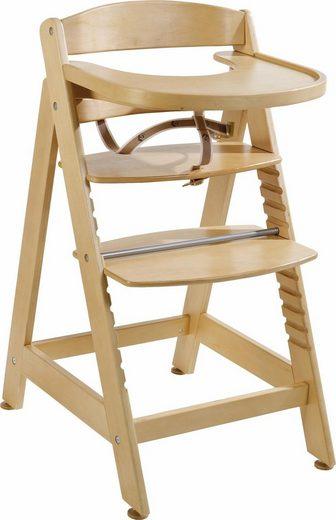 Roba® Hochstuhl »Treppenhochstuhl Sit up Maxi, natur« aus Holz