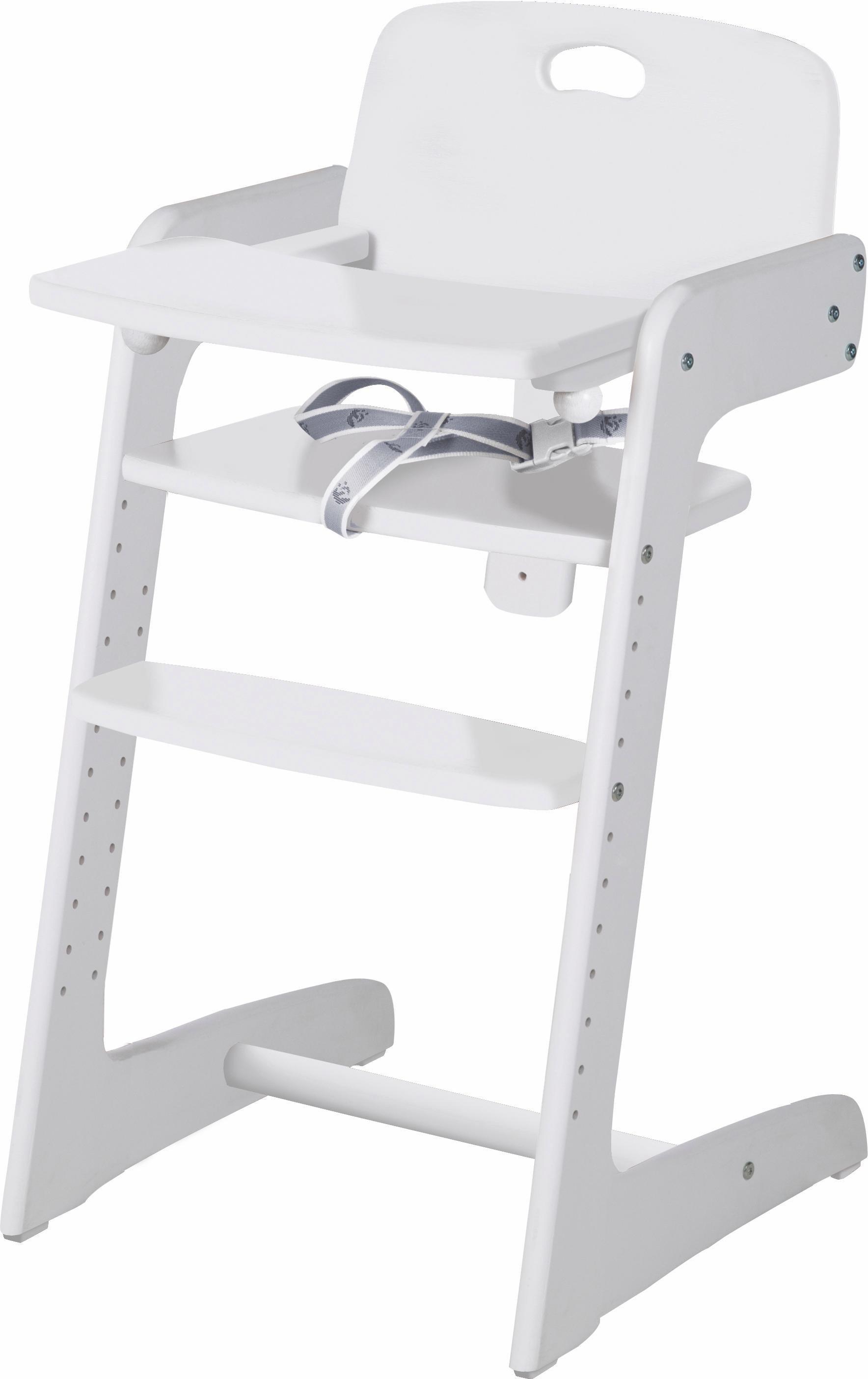 Roba Hochstuhl aus Holz, »Treppenhochstuhl, Kid Up, weiß«   Kinderzimmer > Kinderzimmerstühle > Hochstühle   Weiß   Buche - Massiv   Roba®