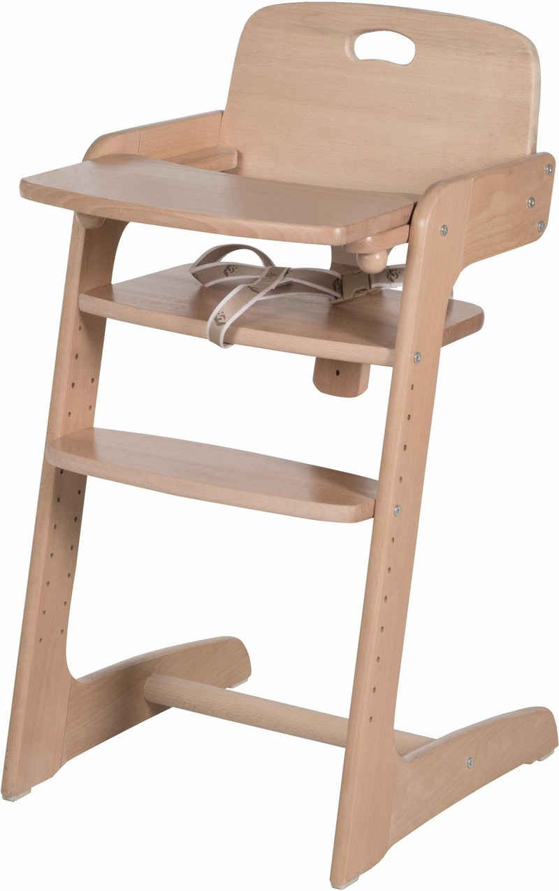 roba® Hochstuhl »Treppenhochstuhl, Kid Up, natur«, aus Holz