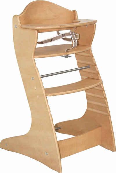 roba® Hochstuhl »Treppenhochstuhl Chair up, natur«, aus Holz