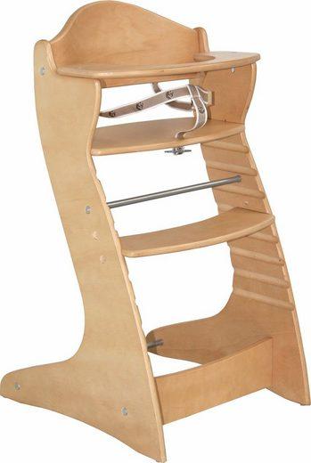 Roba® Hochstuhl »Treppenhochstuhl Chair up, natur« aus Holz
