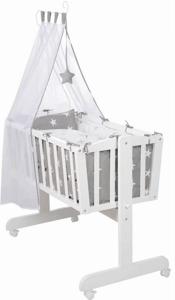 roba wiege mit komplettausstattung komplettwiege little stars online kaufen otto. Black Bedroom Furniture Sets. Home Design Ideas