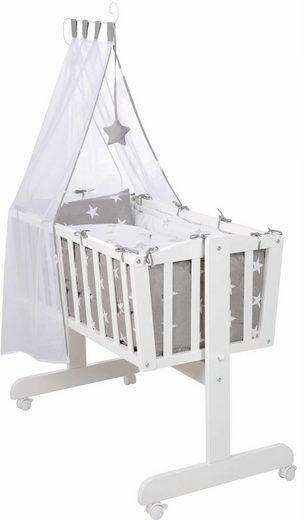 Roba® Stubenbett »Komplettwiege, Little Stars«, mit Komplettausstattung