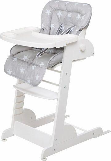 Roba® Hochstuhl »Treppenhochstuhl, Chill Up, weiß« aus Holz