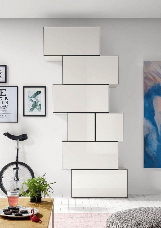 now by h lsta wohnkombination now to go bestehend aus 7 boxen online kaufen otto. Black Bedroom Furniture Sets. Home Design Ideas