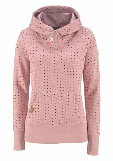 Ragwear Kapuzensweatshirt Chelsea Dots, vegan hergestellt