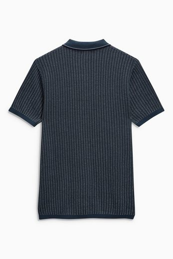 Next Strukturiertes Poloshirt