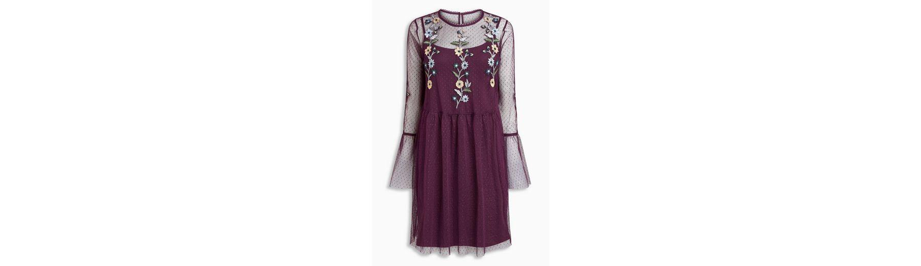 Next Besticktes Kleid aus Netzstoff 2 teilig Steckdose Billig cQK25OLE