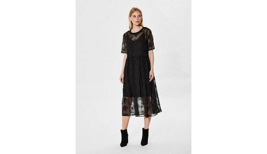 Selected Femme Spitzen- Kleid mit kurzen Ärmeln Günstig Kaufen Browse jO2uM3fS0p