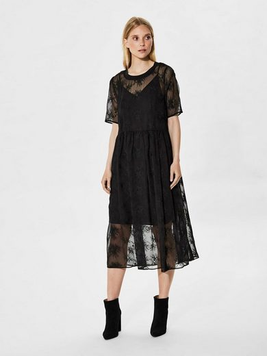 Selected Femme Top Dress With Short Sleeves
