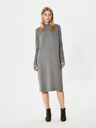 Selected Femme Sweat- Kleid mit langen Ärmeln