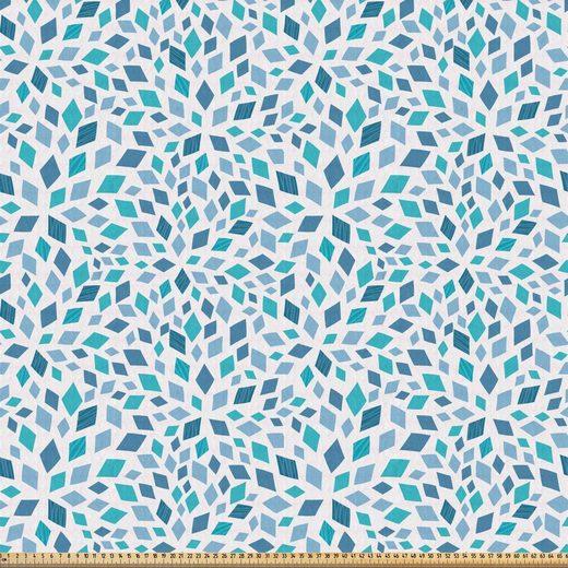 Abakuhaus Stoff »ausdehnbar mit Elestan für Heimwerkarbeiten und Näharbeiten«, Abstrakt Abstrakte Mosaik blauen Tönen