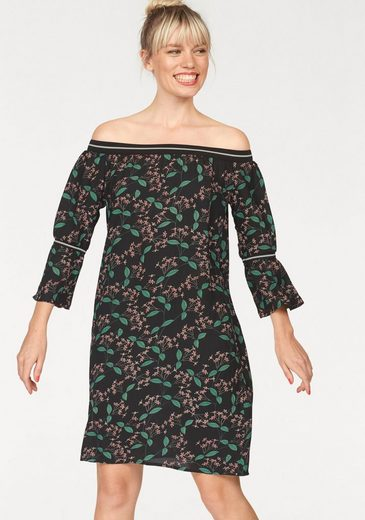 eksept Druckkleid EIGHT DRESS, mit Carmenausschnitt