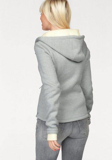 Bench Hooded Sweat Jacket Blwf2458, Bonded-jacket With Rhombus-optics