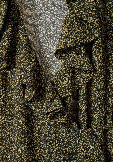 Ichi Wickelkleid, mit floralem Allover-Muster