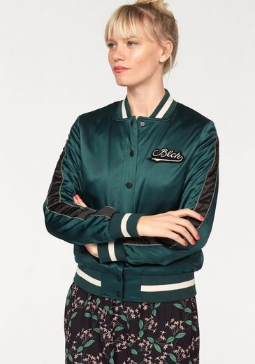 eksept Bomberjacke GREEN BOMBER, in glänzender Satin-Optik