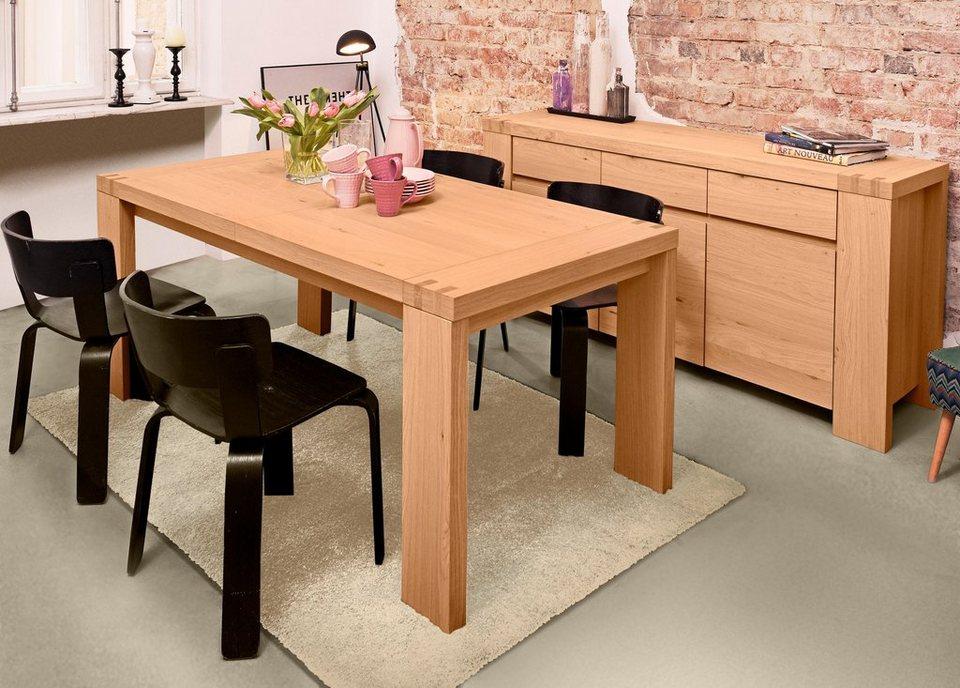 home affaire esstisch elina breite 180 cm ausziehbar. Black Bedroom Furniture Sets. Home Design Ideas