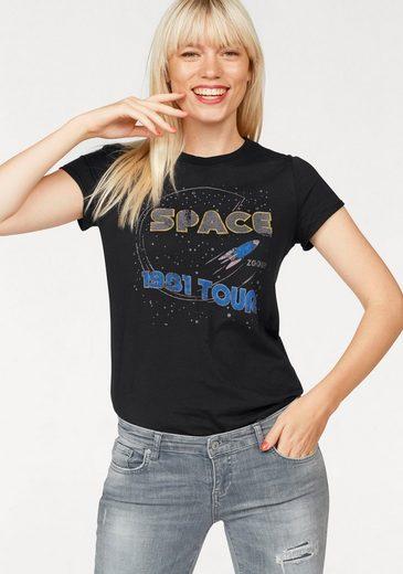Tom Tailor Denim T-Shirt, mit Space-Print