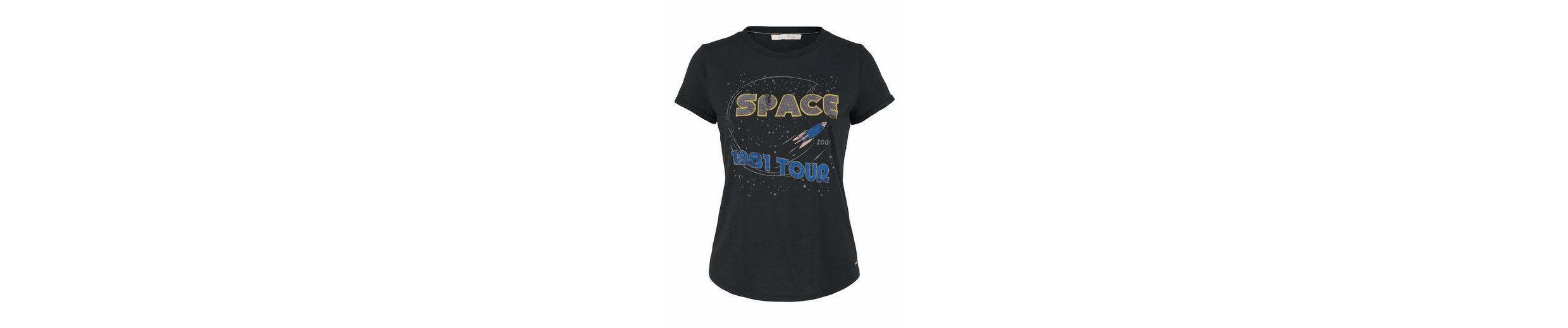 Print Tom Tailor Tom Tailor Shirt T mit Space Denim wSqq5Cr78