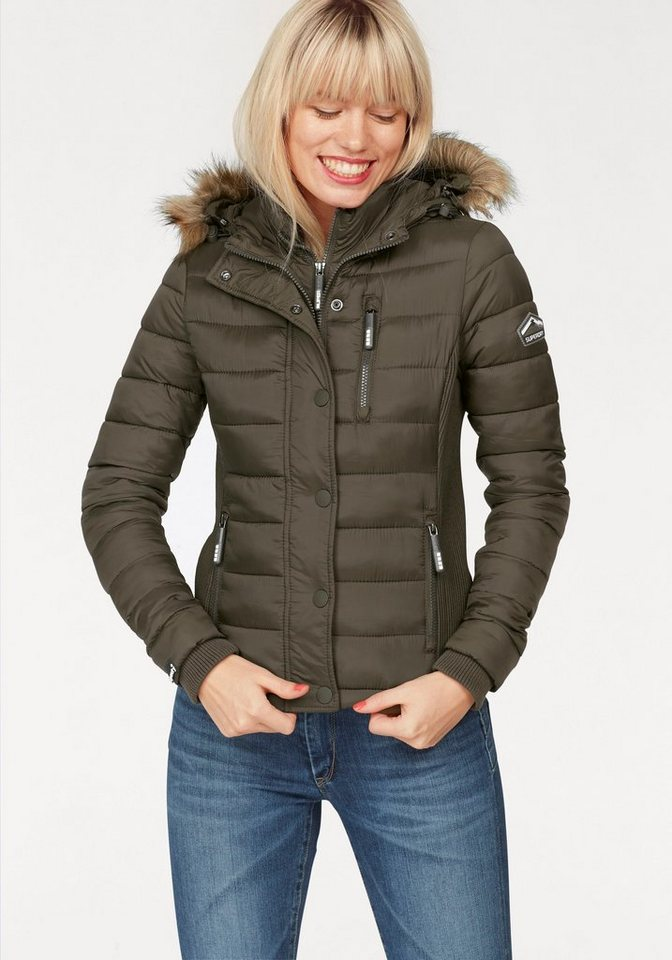 superdry steppjacke fuji slim mit abzippbarem. Black Bedroom Furniture Sets. Home Design Ideas