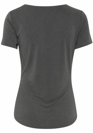 Ichi T-Shirt Julie, mit schöner Raffung an der Seitennaht