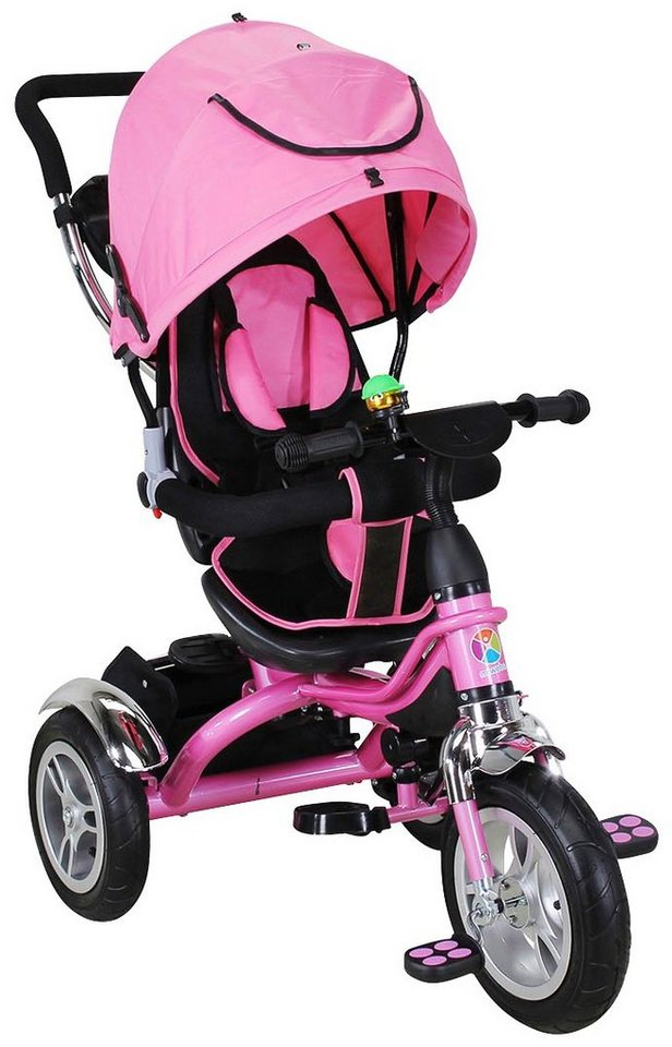 miweba dreirad schieber trike 7 in 1 f r kinder ab 1 jahr 9 zoll pink online kaufen otto. Black Bedroom Furniture Sets. Home Design Ideas